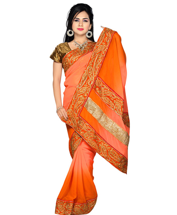 FANCY SAREES   :   POLYESTER